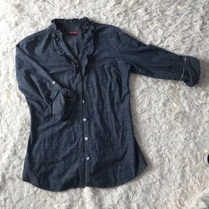 Merona button down 3/4 sleeve shirt